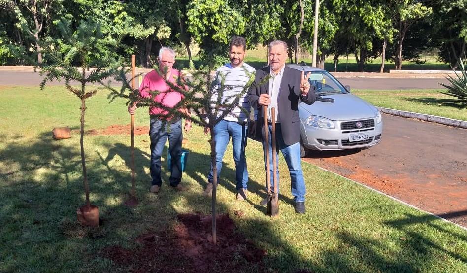 Vereadores plantam árvores pelo Dia Mundial do Meio Ambiente