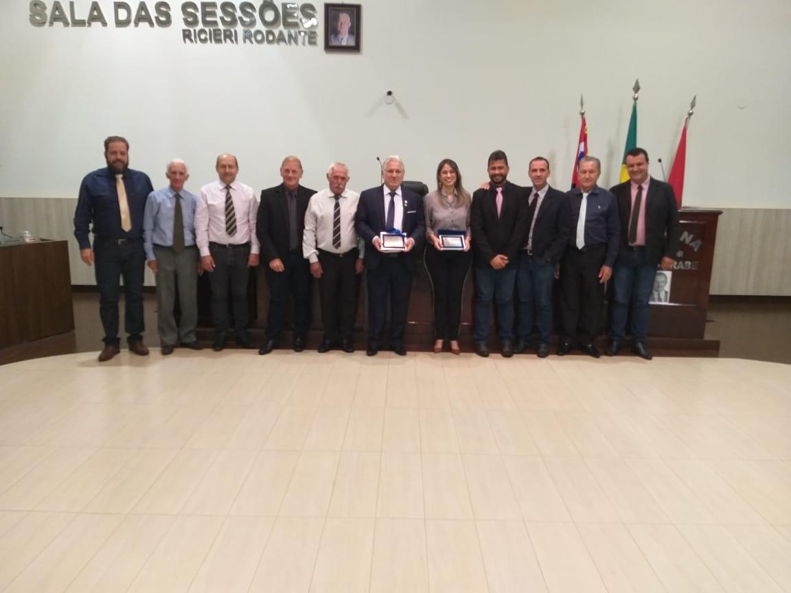 Rotarianos são homenageados pelos Vereadores de José Bonifácio
