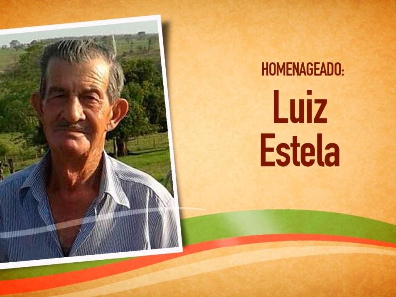 Senhor Luiz Estela recebe homenagem da Câmara Municipal