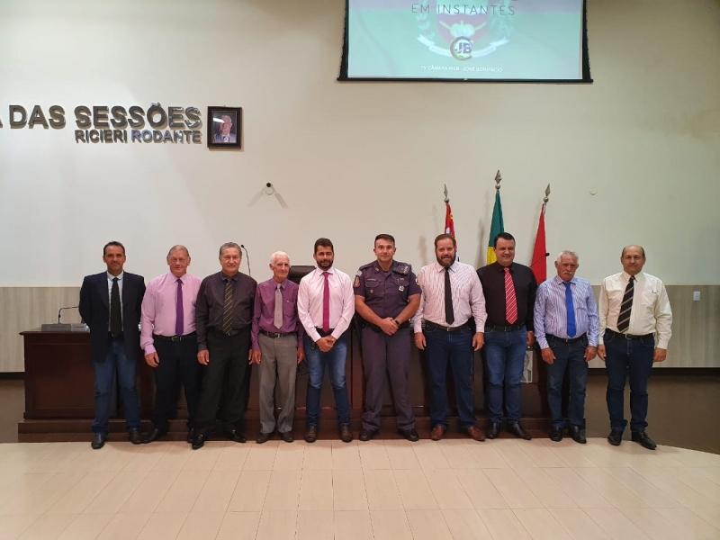 Reunião dos Vereadores com o Tenente da Polícia Militar do Estado de São Paulo Leandro Mendes