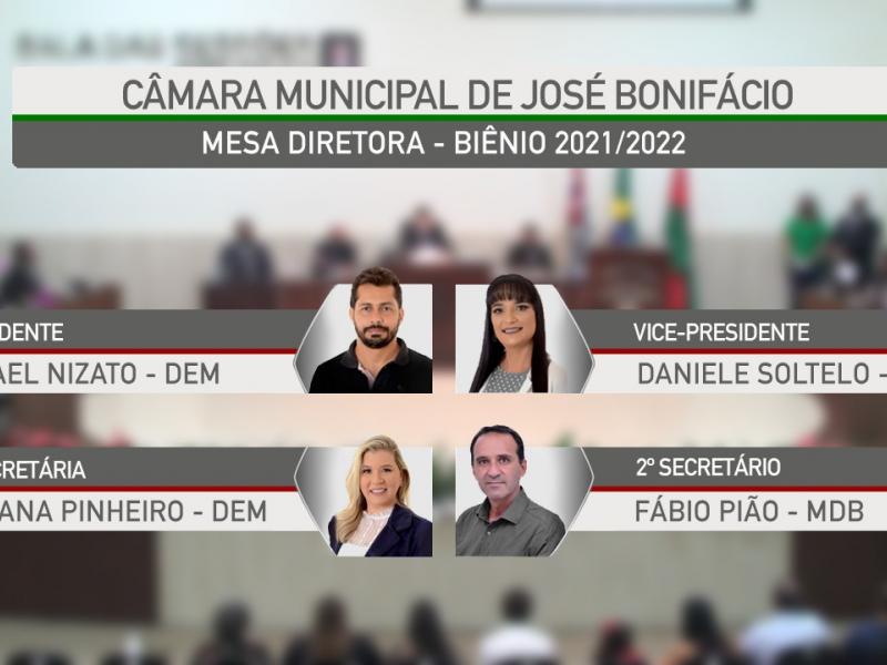 Eleita Mesa Diretora para o biênio 2021/2022